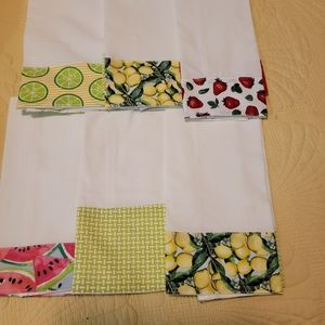 2 FOR 8 HOMEMADE KITCHEN TOWELS